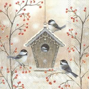 Bilde av Beautiful birdhouse servietter lunch